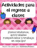 Back to school in Spanish!: Regreso a clases