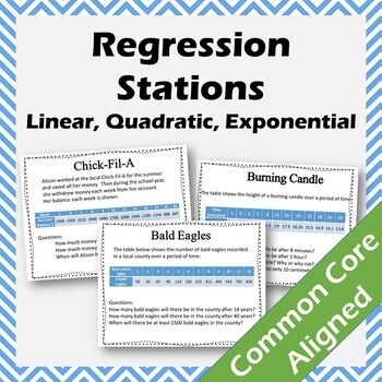 Linear, Quadratic and Exponential Regression Stations