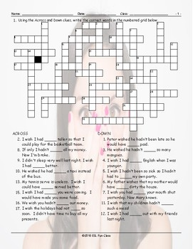 Regret Modal Verbs Crossword Puzzle