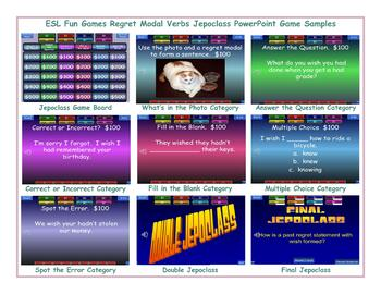Regret Modal Verbs Jeopardy PowerPoint Game