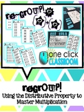 Regroup! Game; Using the Distributive Property to Master M