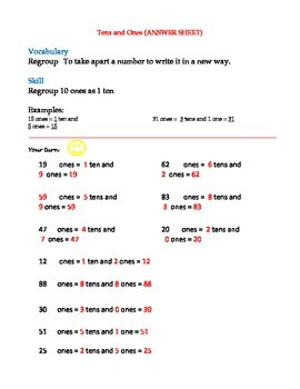 Regroup using Tens and Ones