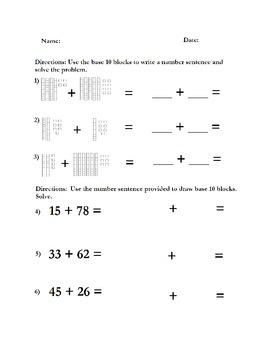 Regrouping Addition Based Ten Blocks