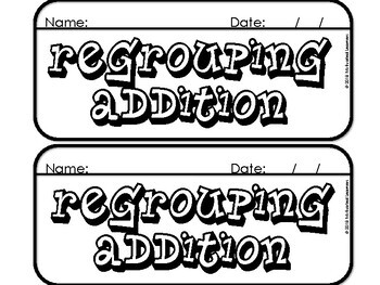 Regrouping Addition Flip Book Made Easy