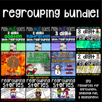 Regrouping Bundle - 170 Addition and Subtraction Resources