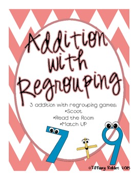 Regrouping Double Digit Addition and Subtraction Bundle (6 activities)