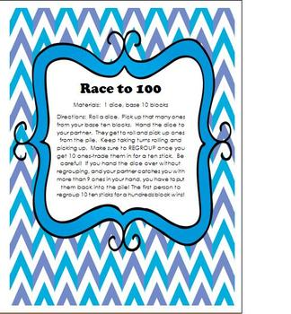 Regrouping Game - Race to 100