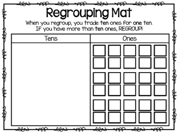 Regrouping Mats Tens And Ones By Jamiep123 Teachers Pay