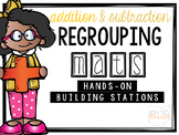 Regrouping Math Mats [a hands-on building station]