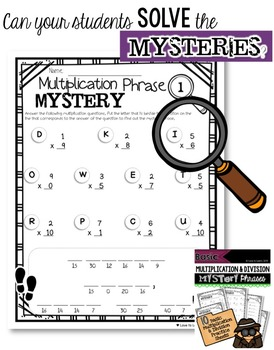 Basic Multiplication & Division Math Mystery Phrases