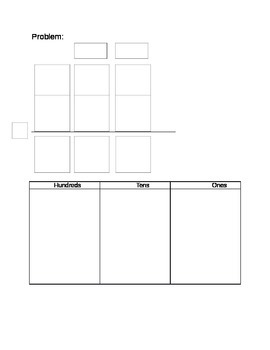 Regrouping Place Value Mat