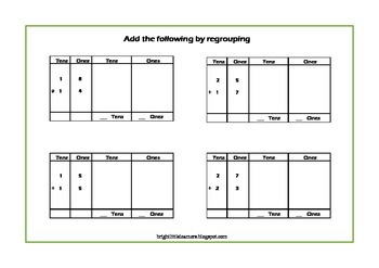 Regrouping Poster - Addition with Carryover and Subtraction with Borrowing