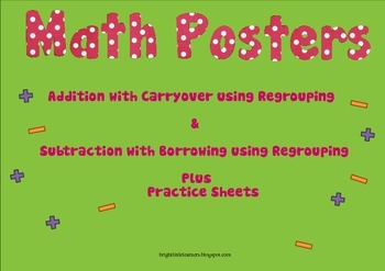 Regrouping Poster - Addition with Carryover and Subtractio