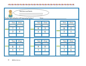 Regrouping Practice-Double Digit Subtraction