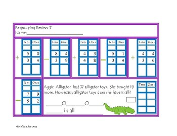 Regrouping Double Digit + and -