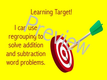 Regrouping Review with Word Problems