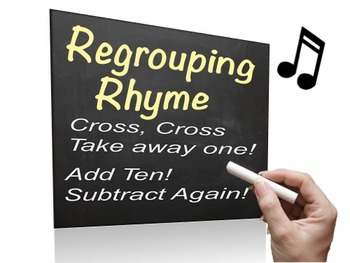 Regrouping Song - Powerpoint - easy way to remember how to regroup
