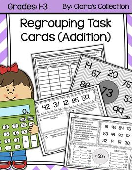 Regrouping Task Cards (Addition)