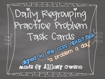 Regrouping Task Cards {Problem-a-Day}
