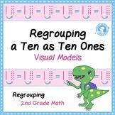 Regrouping a Ten as Ten Ones - Task Card Visual Models