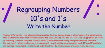 Regrouping numbers with 10's and 1's