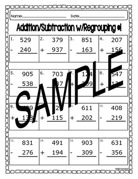 Regrouping with Addition and Subtraction #1