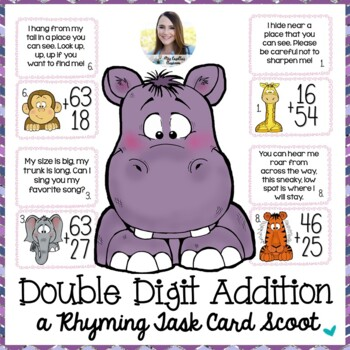 Regrouping with Riddles (Regrouping with Addition Task Cards)