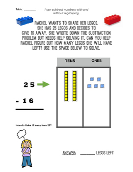 Regrouping with Subtraction Task