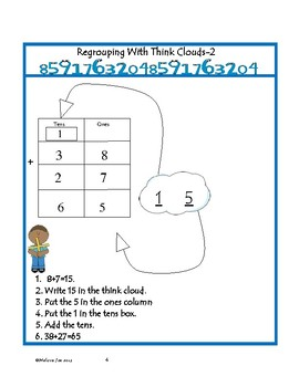 Regrouping/Addition Using Think Clouds