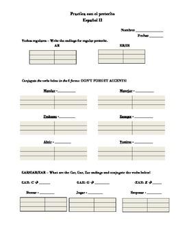 Regular AR, ER and IR conjugation with tener and preferir