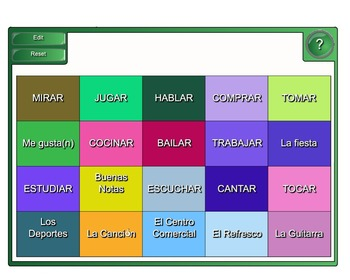 Regular AR Verb Vocabulary Practice (Flyswatter - Matamoscas)