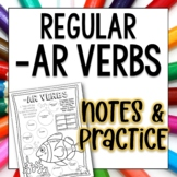Regular AR Verbs Doodle Pages Worksheets Notes Spanish