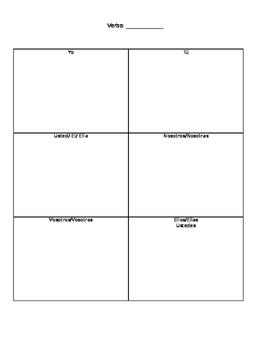 Regular -AR verb chart and activity