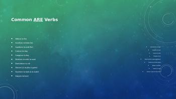 Regular ARE verbs practice drills