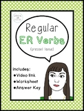 Spanish Verbs | Present Tense ER Verbs