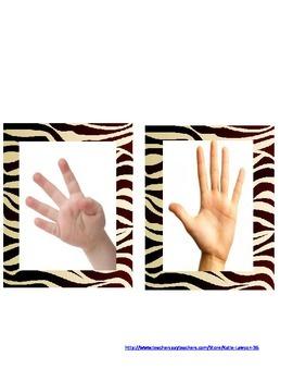 Regular Finger Patterns Flash Cards