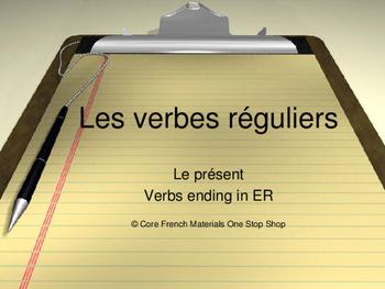 Regular French ER Verbs Lesson