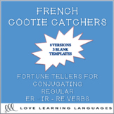 Regular French verbs cootie catchers for conjugation pract
