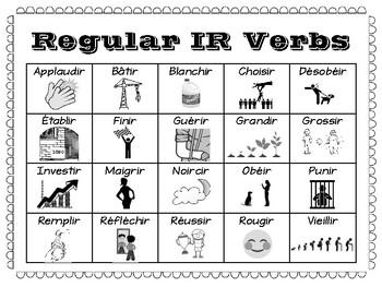 Regular -IR Verbs Info-graphic
