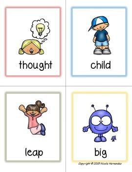 Regular Illustrated Synonym Word Cards