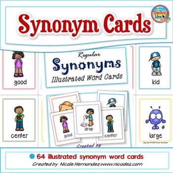 Synonym Word Cards - Low Ink Version