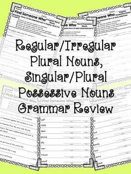 Kagan - Find Someone Who: Upper Elementary Noun Grammar Review