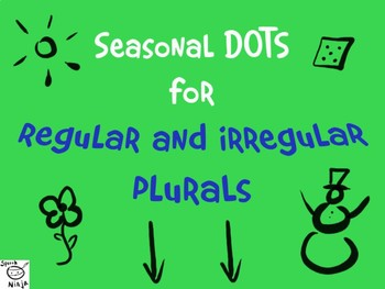 Regular & Irregular Plurals - Seasonal DOT pages