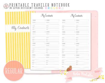 Regular My Contacts List Traveler Notebook Refill