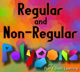 Regular & Non-Regular Polygons Geometry worksheet