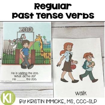 Regular Past Tense Verb Flashcards and Activities