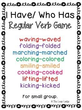Regular Past Tense Verb Game