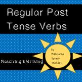 Regular Past Tense Verb Matching & Sentence Generation {Worksheets}