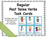 Regular Past Tense Verb Task Cards