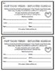 Regular Past Tense Verbs - Inflected Endings - Grammar Exit Tickets 3rd Grade